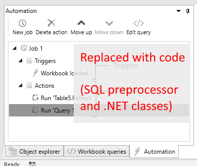 Removed automation pane